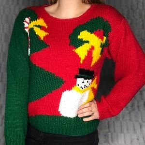 Vintage Lord & Taylor Hand Knit Christmas Sweater